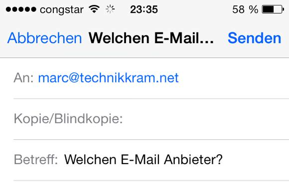 Welchen E-Mail Anbieter