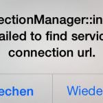 AppStore ConnectionManager::invoke:: Failed – Lösung