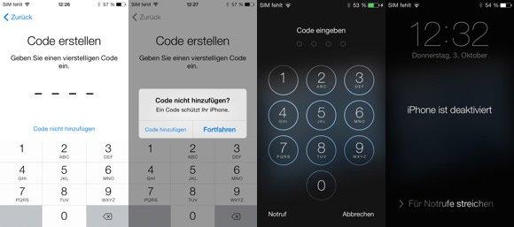 iOS7-Code-vergessen