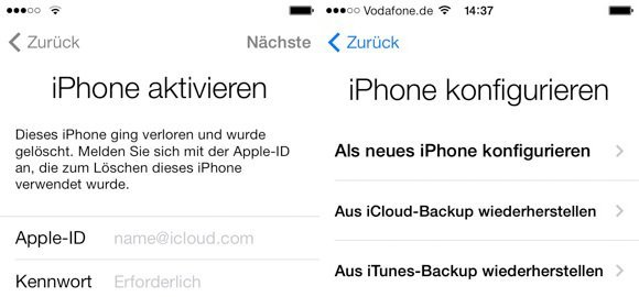 iphone oder ipad ist deaktiviert nach update auf ios 7. Black Bedroom Furniture Sets. Home Design Ideas