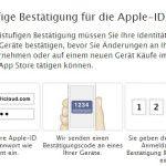 iCloud Apple-ID Zwei-Faktor-Authentifizierung aktivieren