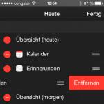 iOS 8 Aktien aus der Mitteilungszentrale verbannen