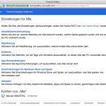 Windows kostenlos mit Family Safety Kindersicher machen
