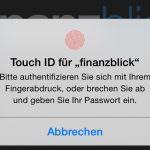 finanzblick – Onlinebanking jetzt mit TouchID Unterstützung
