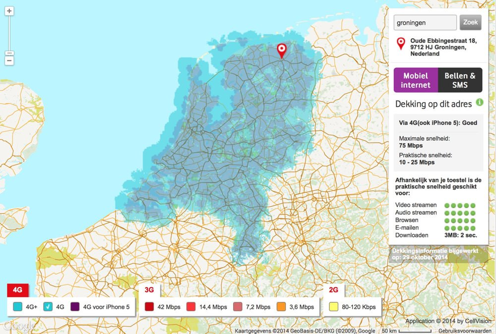 Lte Netzabdeckung Karte.Vodafone Netzabdeckung In Den Niederlanden Ist Ein Traum Und
