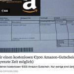 Achtung vor der Amazon 500,00€ Gutscheinfalle bei Facebook