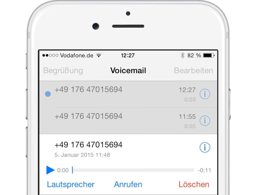 vodafone mailbox nachricht