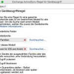 Den Zugriff auf den Exchange Server durch die App Outlook for iOS and Android per Gerätezugriffsregel blockieren
