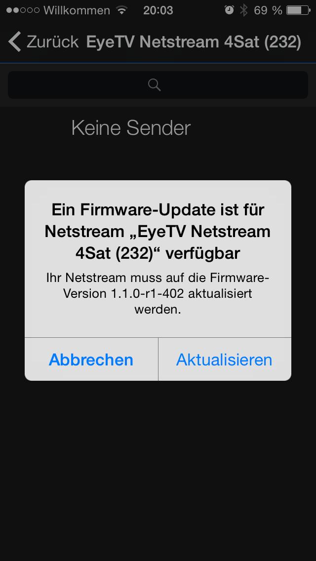 EyeTV Netstream 4Sat Firmware 1