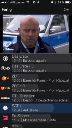 EyeTV Netstream 4Sat Wiedergabe