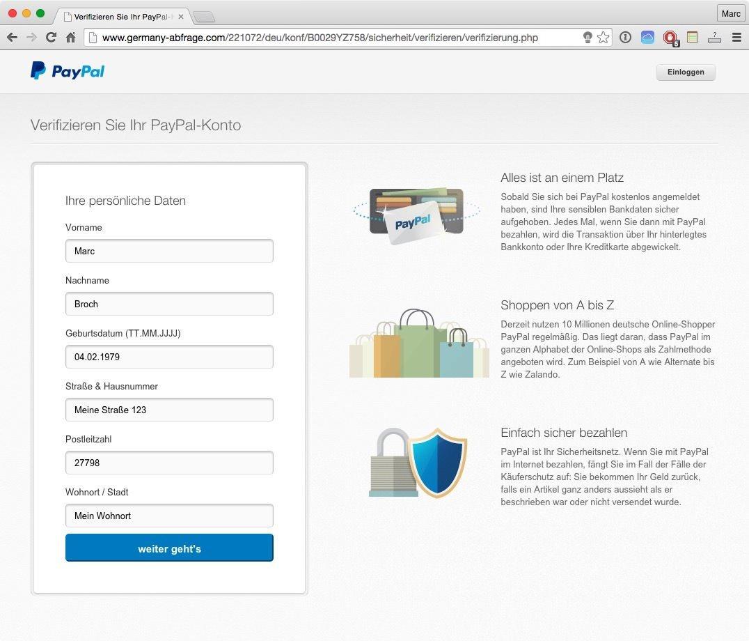 Paypal überprüfung Erforderlich Ist Phishing In Perfektion