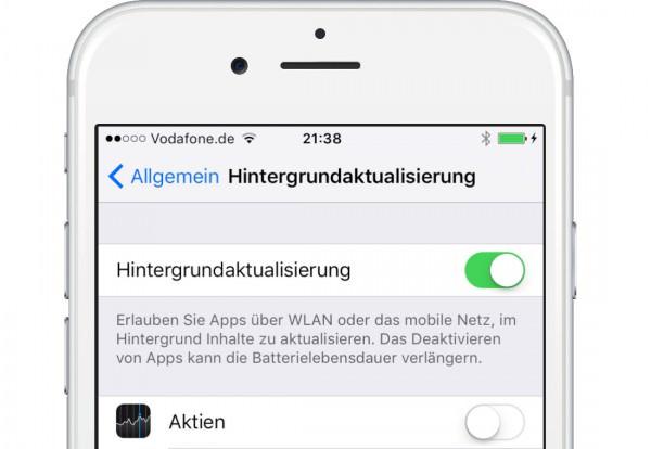 iOS9-Hintergrund