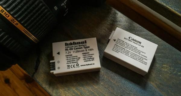 Vergleich Hähnel - Canon