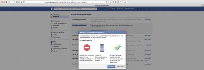 Zwei-Faktor-Facebook