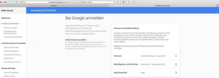 Zwei-Faktor-Google