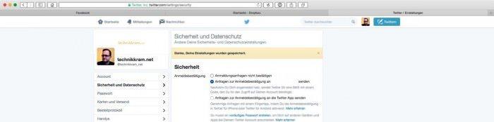 Zwei-Faktor-Twitter