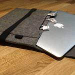 Preiswerte MacBook Filz Sleeve Tasche in 13 oder 15 Zoll