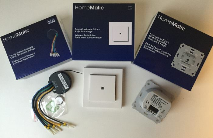Homematic – Leitfaden Licht schalten – Übersicht aller Aktoren und Sender