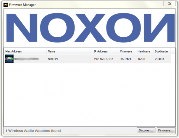 Noxon Firmware Manager