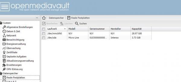 OpenMediaVault-RealeFestplatten
