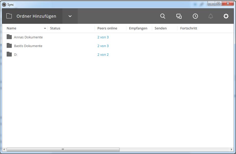 BitTorrent Sync Übersicht