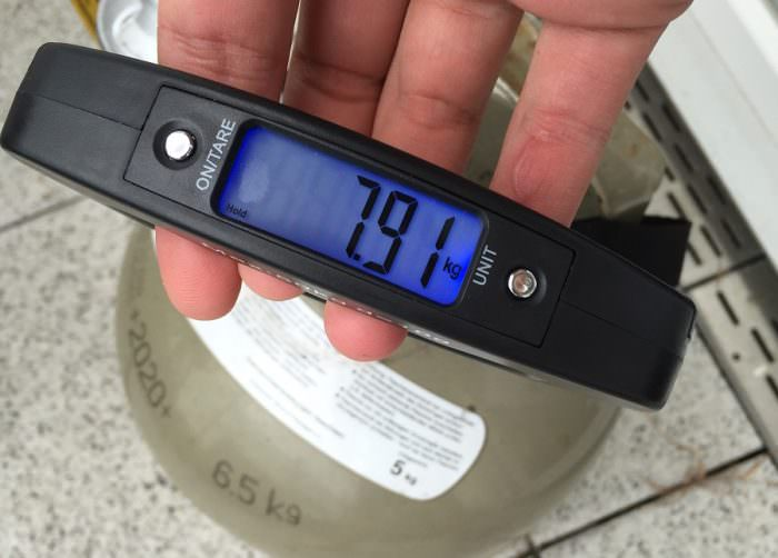 Gewicht Gasflasche