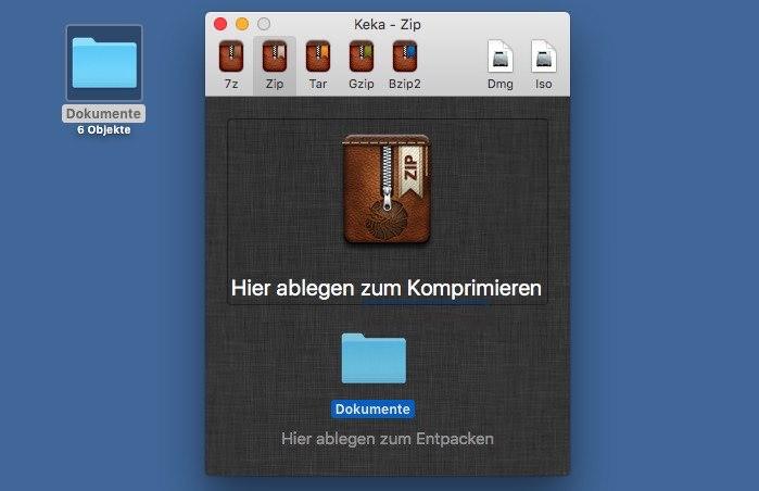 Mac OS X: ZIP erstellen und verschlüsseln