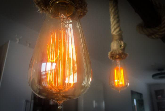 Meine neue retro Edison Lampe mit Dimmer