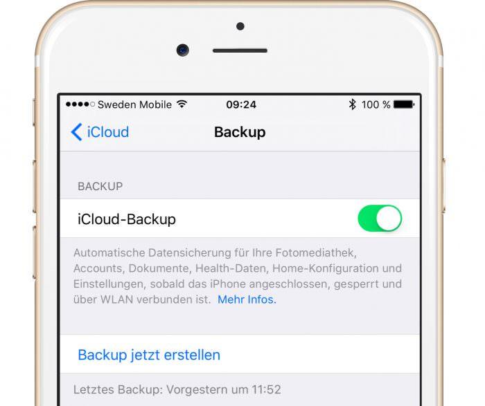 iCloud Backup nagt am mobilen Datenvolumen