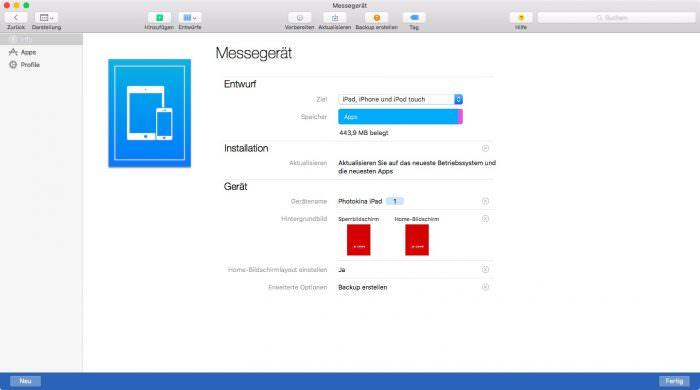 Apple Configurator 2 Entwürfe auf anderen Mac übertragen