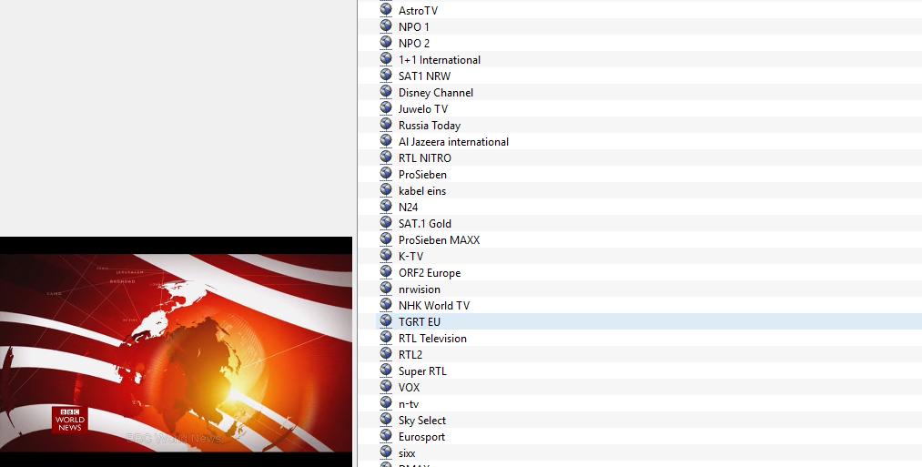Senderliste - VLC
