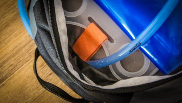 Trinkblase im Rucksack