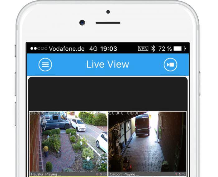 HiKam RTSP Streams sicher per VPN vom iPhone aufrufen