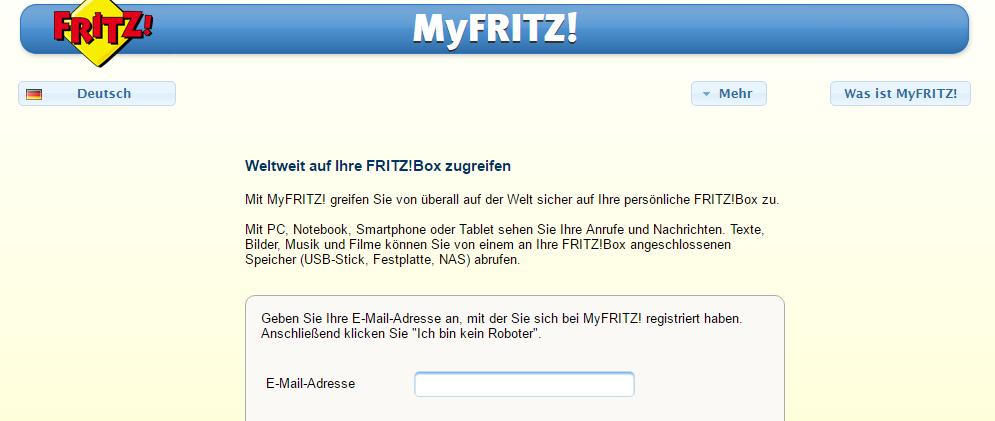 myFritz-Login