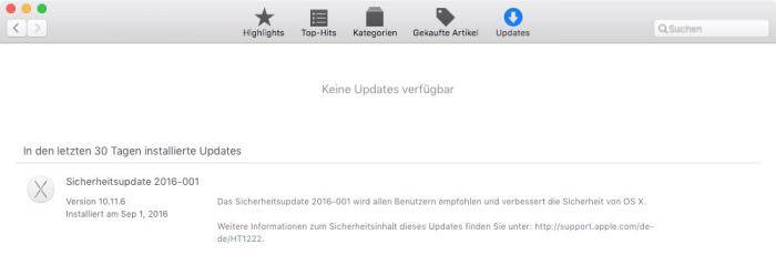 Dringendes Sicherheits-Update 2016-001 für OS X El Capitan und Yosemite