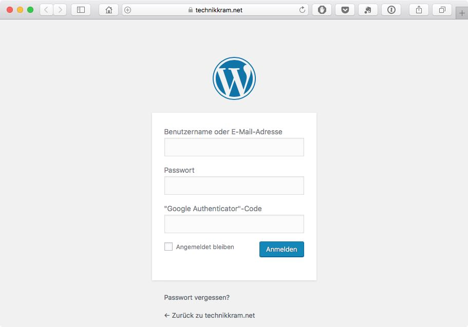 WordPress Zwei-Faktor-Authentifizierung