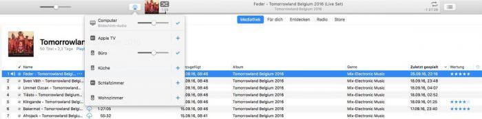 Yamaha MusicCast über iTunes ansteuern