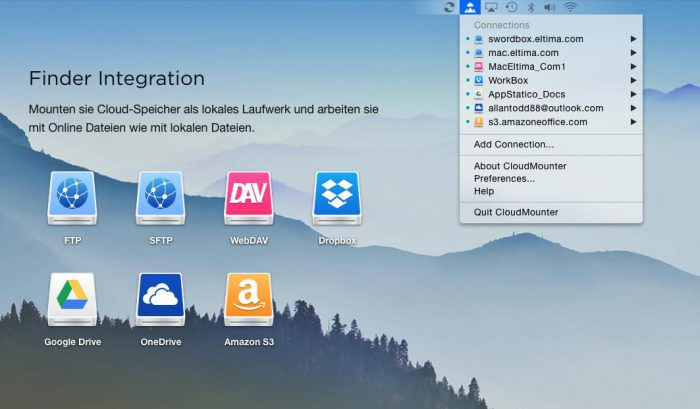 CloudMounter bindet Cloud-Dienste am Mac als Laufwerk ein