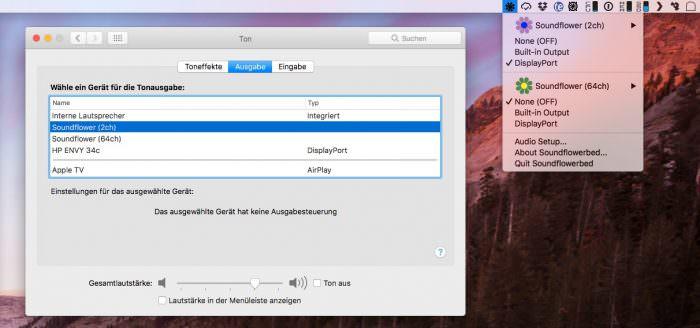 Lautstärkeregelung auf externen Monitoren am Mac aktivieren