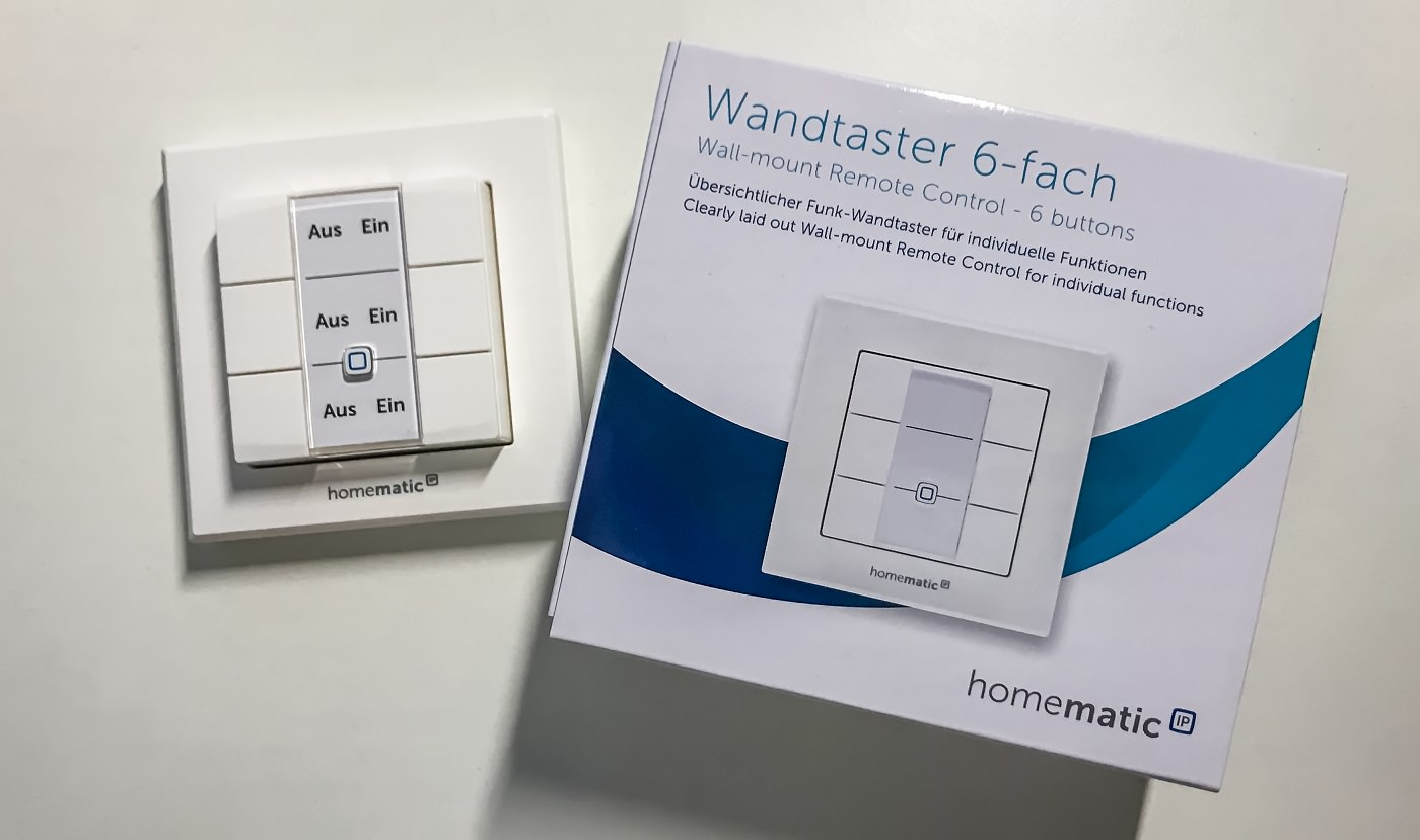 Homematic: 6-Fach Wandtaster