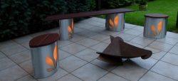 Beheizbare und illuminierte Sitzmöbel für den Garten
