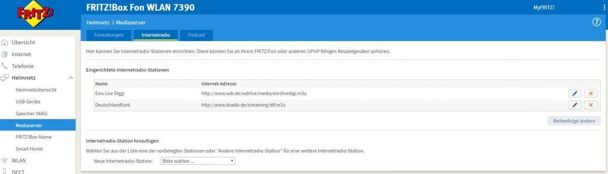Internetradio auf dem Fritz! Fon C4 - Neue Sender ...