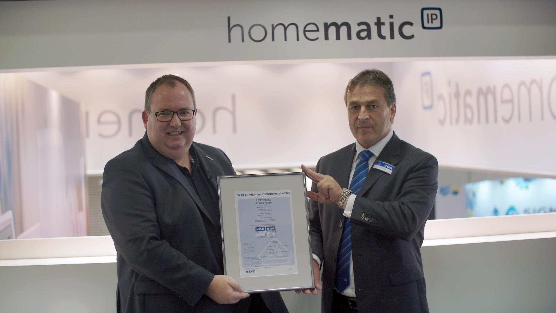HomeMatic IP -  Als erstes Smart Home System vom VDE zertifiziert