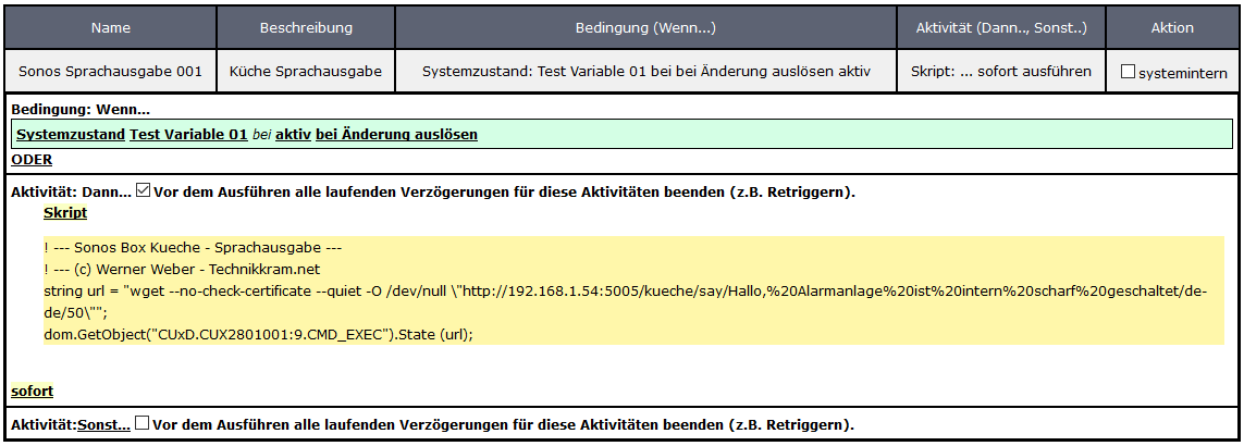 Homematic Sonos Steuern Teil 03 Sprachausgabe Technikkram Net
