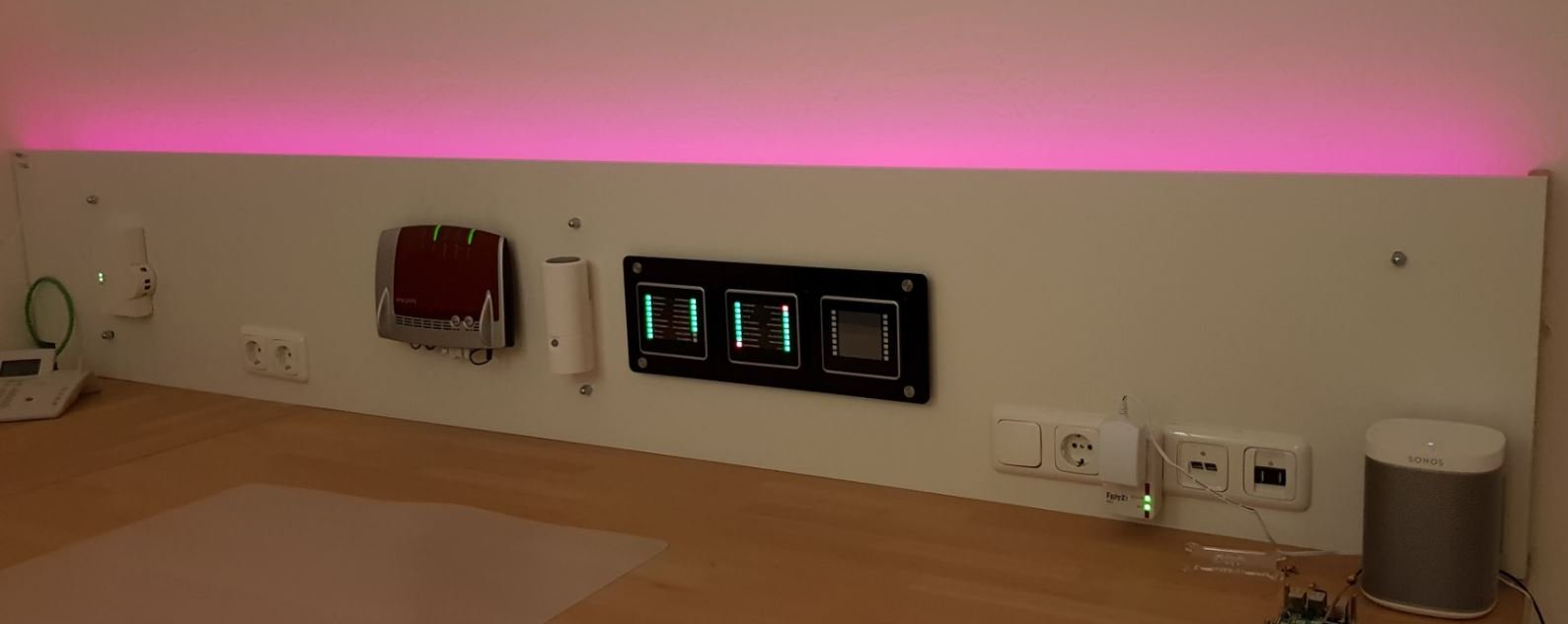 Homematic Praxis - RGBW Controller - Indirekte Beleuchtung, Status der Alarmanlage