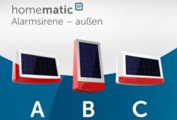 NEUHEIT - Homematic IP Außensirene - Abstimmung über das Design