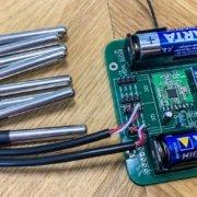 Homematic DIY-Projekt: 8-fach Thermometer -fertige Platine im Eigenbau