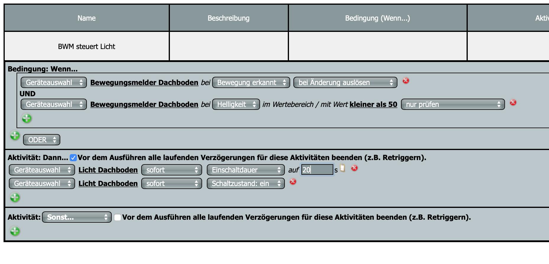 Zentralenprogramm BWM - LICHT