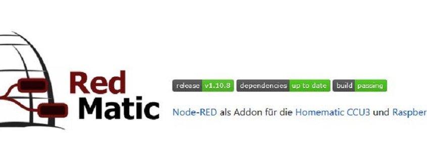 Vorstellung RedMatic – Node Red als AddOn für die CCU3 oder