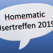 Homematic Usertreffen 2019 in Kassel